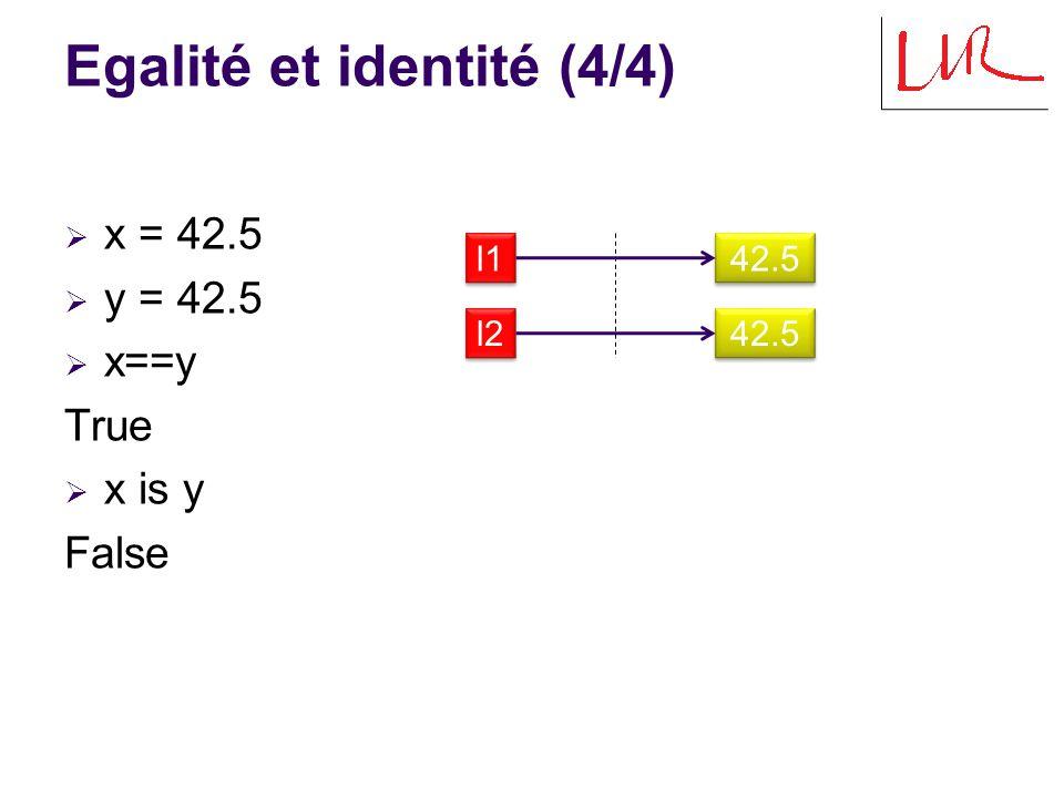 Passage d arguments  def changer(a,b): … a = 2 … b[0] = hello …  x = 1  y = [1,2]  changer(x,y)  x,y (1,[ hello ,2]) x x 1 1 a a y y [0,1] b b 2 2 hello