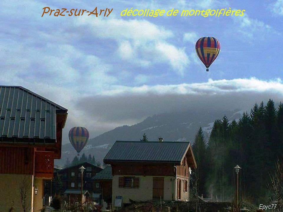 Praz-sur-Arly. le village