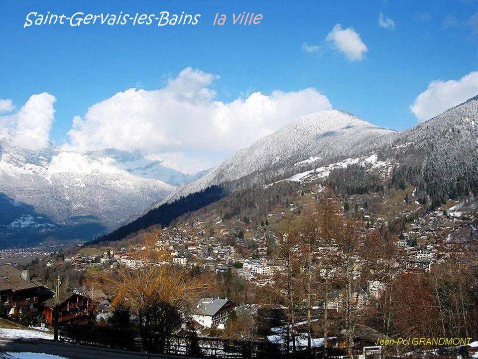 Passy le Mont-Blanc vu depuis la ville