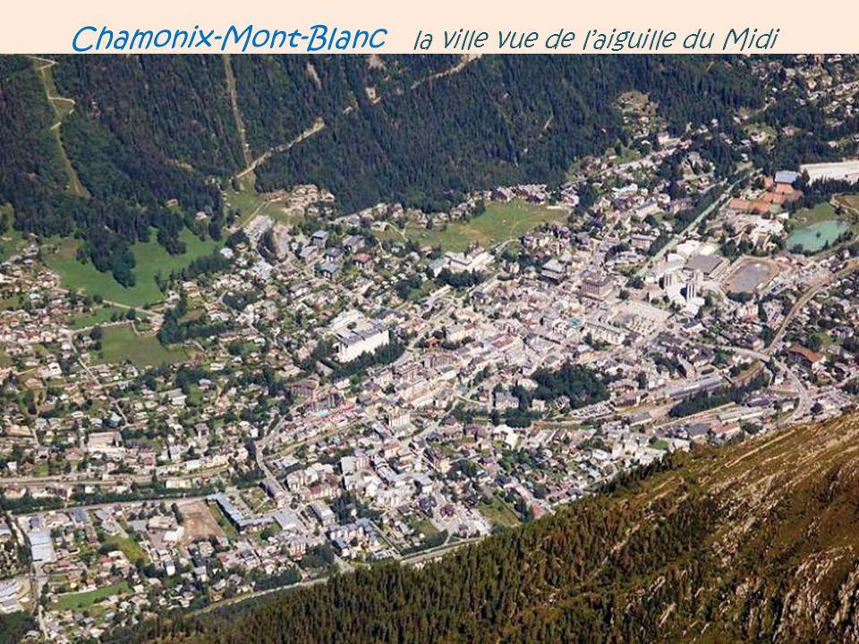 Chamonix-Mont-Blanc la vallée de Chamonix. vue depuis le Sud