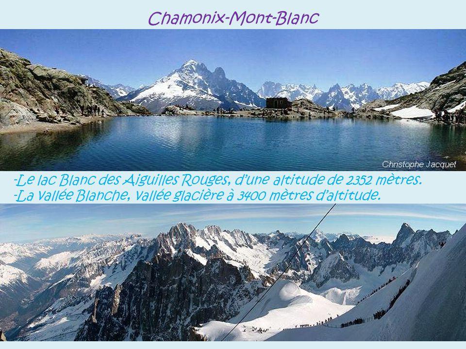 Chamonix-Mont-Blanc entrée du tunnel, long de 11,6 kilomètres