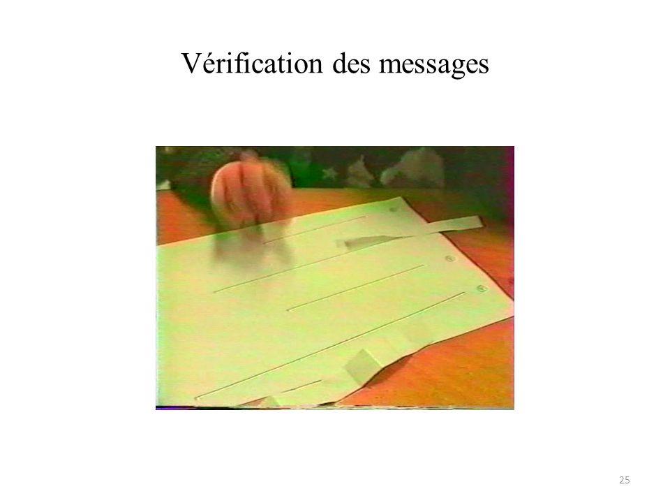 Vérification des messages 25