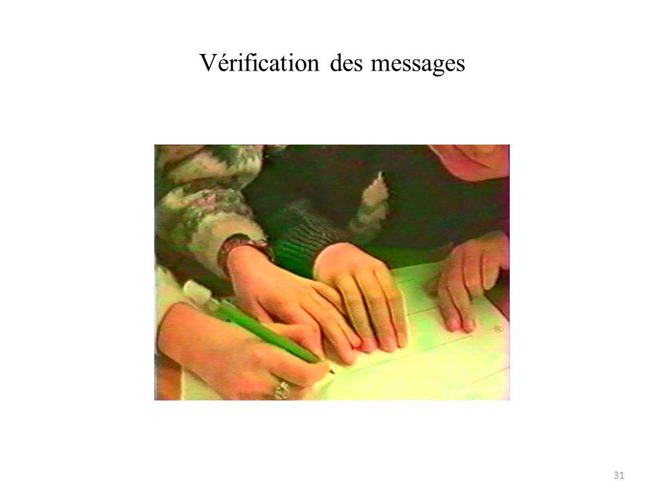 Vérification des messages 31