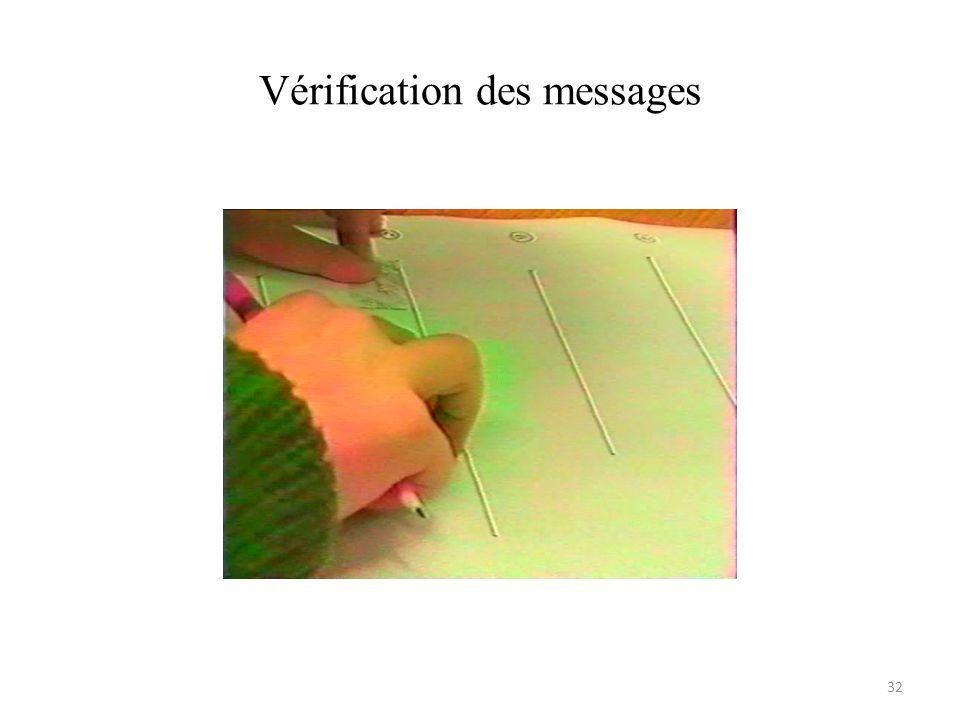 Vérification des messages 32