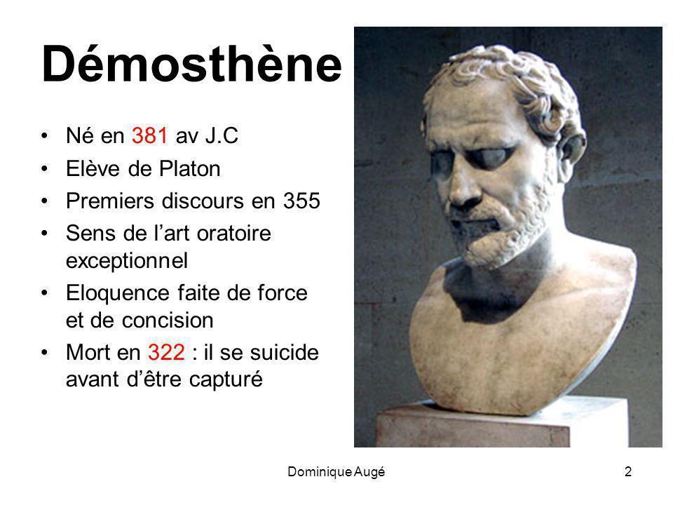 Dominique Augé13 L'entrée en scène de Philippe : • les qualités du Barbare et celles du Grec civilisé .