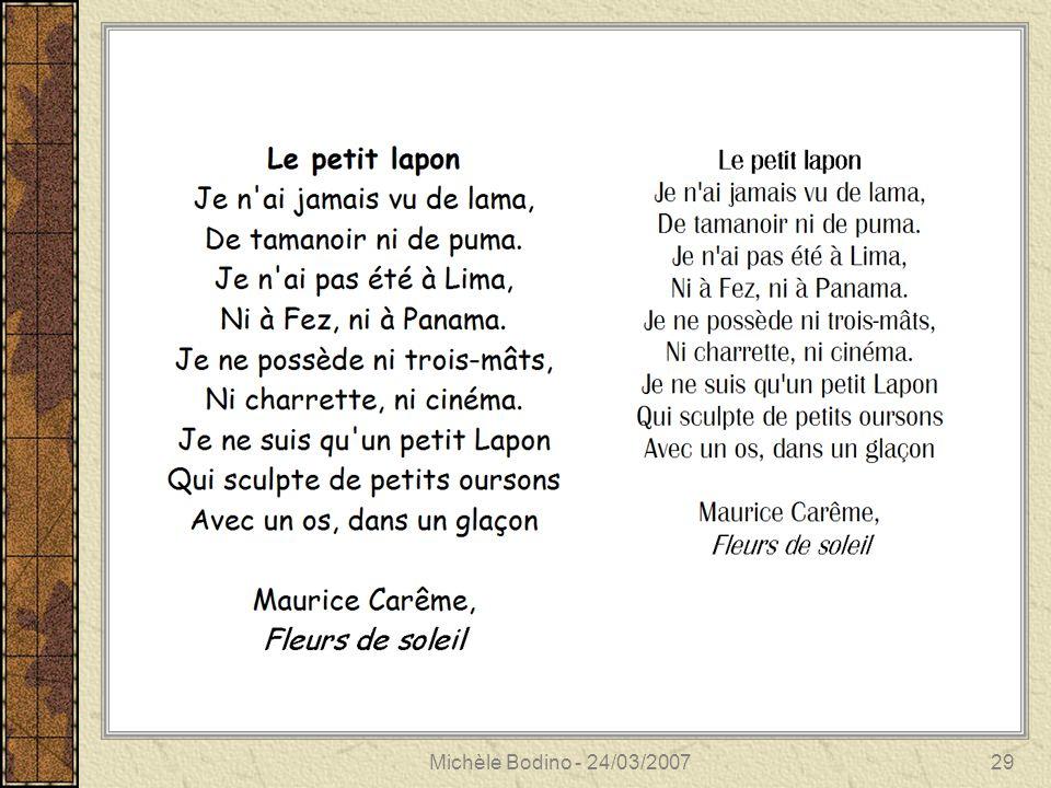 Michèle Bodino - 24/03/200729