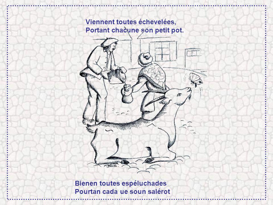 Les cuisinières tirées du lit Au cri du vieux chevrier Guilhot, Las coucinères deschutades Au crit deu bieilh crabè Guilhot,