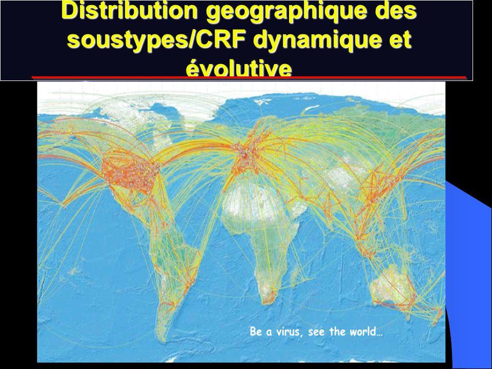 Distribution geographique des soustypes/CRF dynamique et évolutive