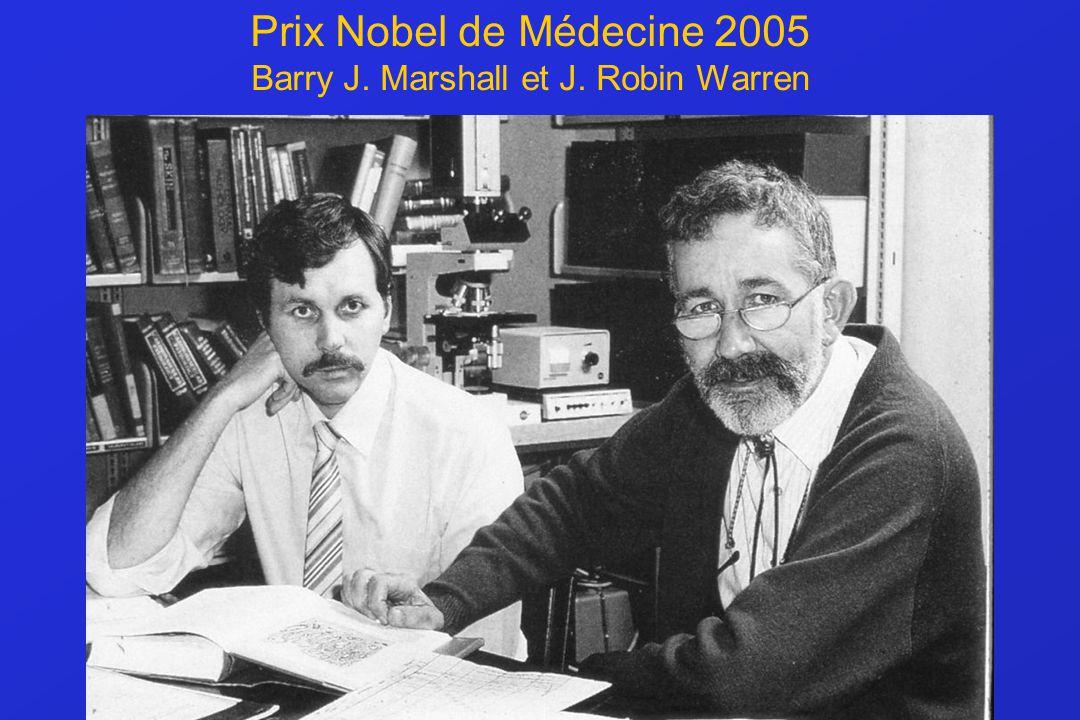 Prix Nobel de Médecine 2005 Barry J. Marshall et J. Robin Warren