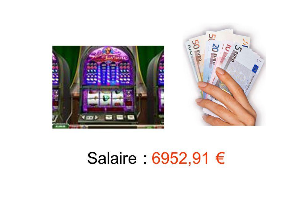 Salaire : 6952,91 €