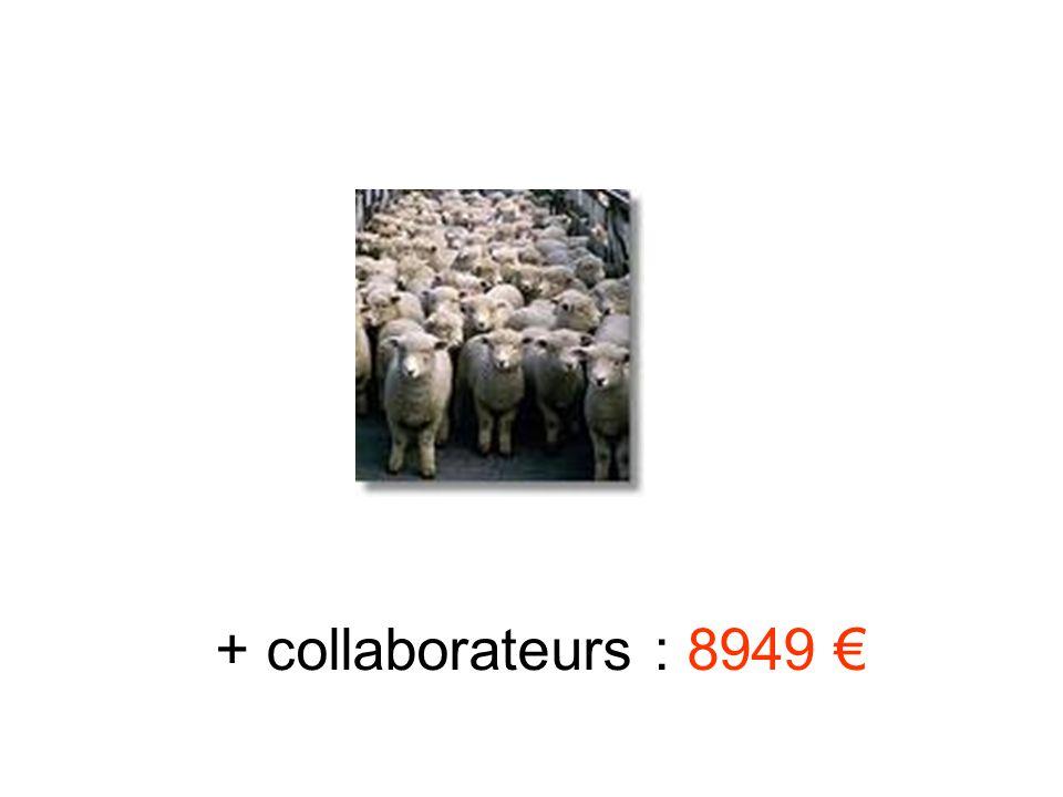 + collaborateurs : 8949 €