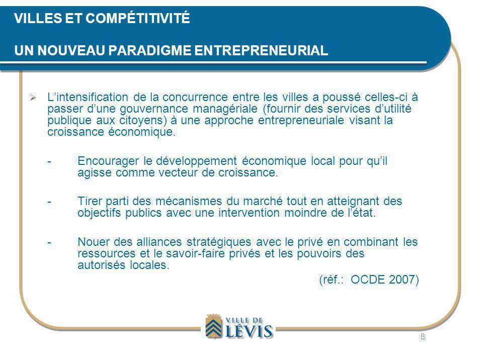 L'OPPORTUNITÉ (ENTENTE GAGNANT-GAGNANT) La Ville de Lévis : • Disposer d'un équipement structurant avec une grande capacité d'accueil rapidement.