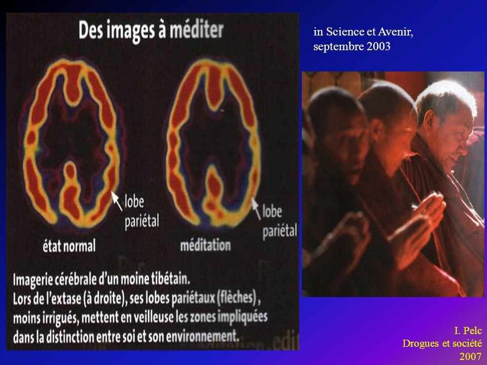 in Science et Avenir, septembre 2003 I. Pelc Drogues et société 2007