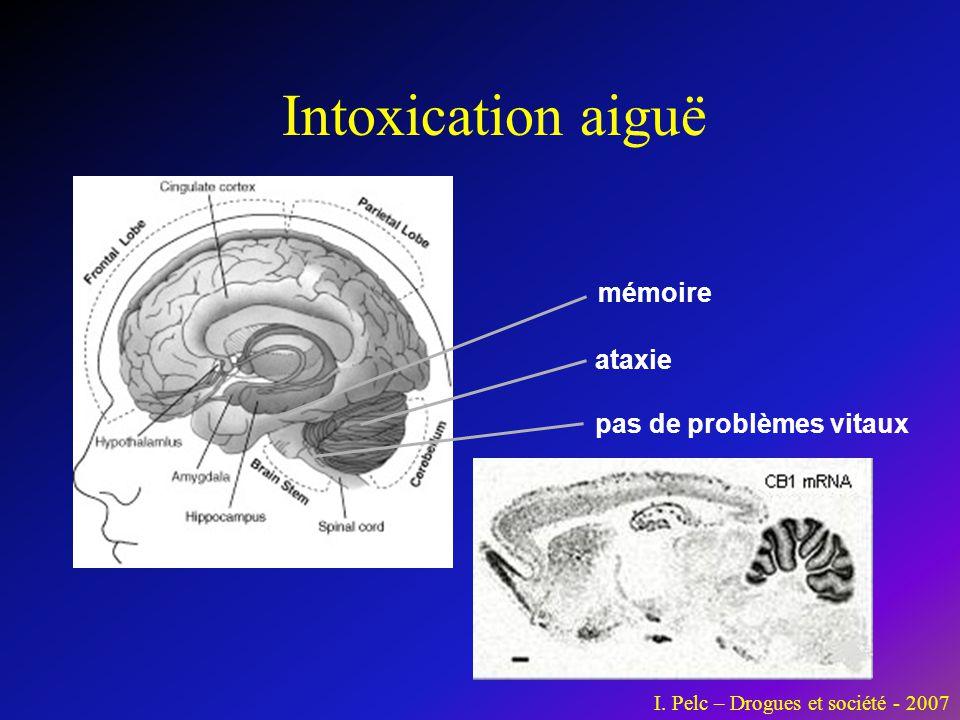 mémoire ataxie pas de problèmes vitaux Intoxication aiguë I. Pelc – Drogues et société - 2007