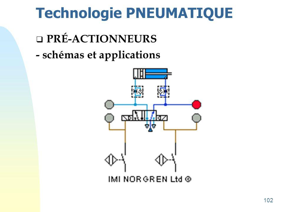 102 Technologie PNEUMATIQUE  PRÉ-ACTIONNEURS - schémas et applications