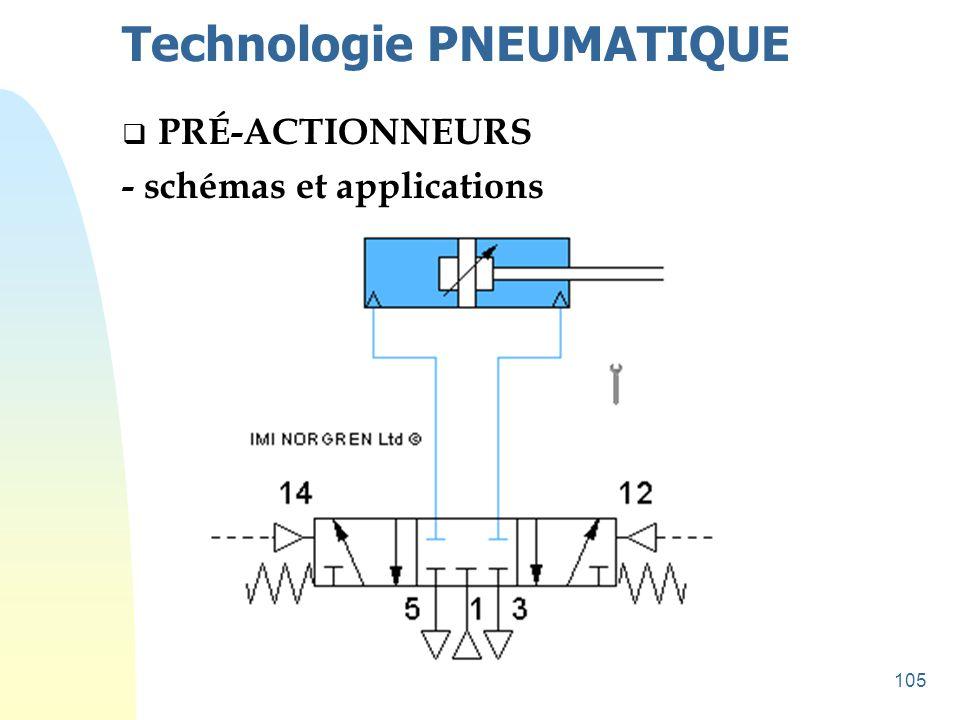 105 Technologie PNEUMATIQUE  PRÉ-ACTIONNEURS - schémas et applications