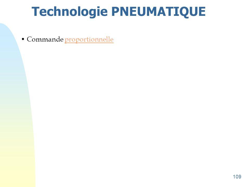 109 Technologie PNEUMATIQUE • Commande proportionnelleproportionnelle