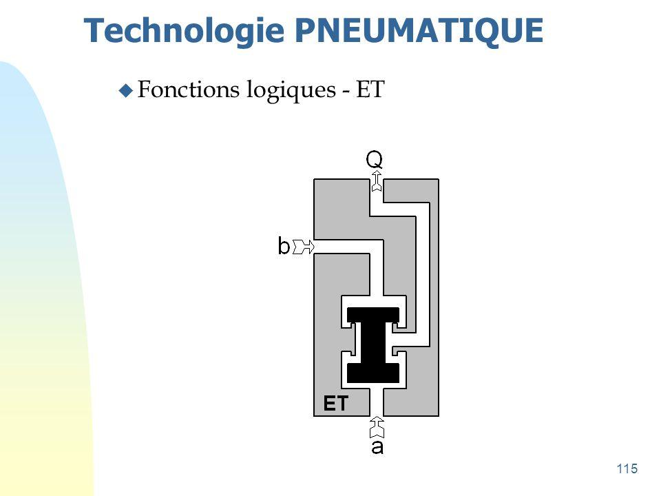 115 Technologie PNEUMATIQUE u Fonctions logiques - ET