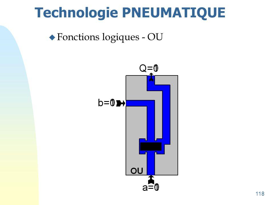 118 Technologie PNEUMATIQUE u Fonctions logiques - OU
