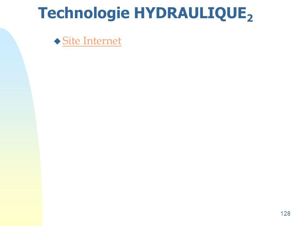 128 Technologie HYDRAULIQUE 2 u Site Internet Site Internet