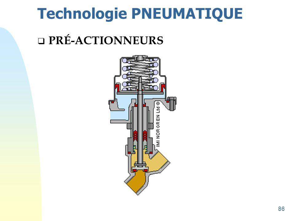 86 Technologie PNEUMATIQUE  PRÉ-ACTIONNEURS