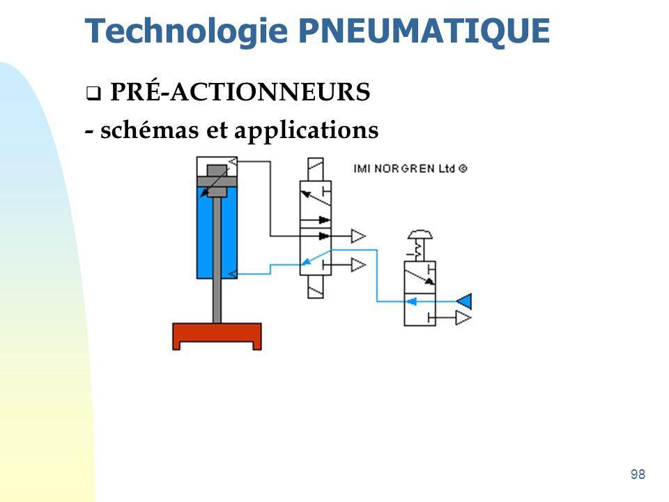 98 Technologie PNEUMATIQUE  PRÉ-ACTIONNEURS - schémas et applications
