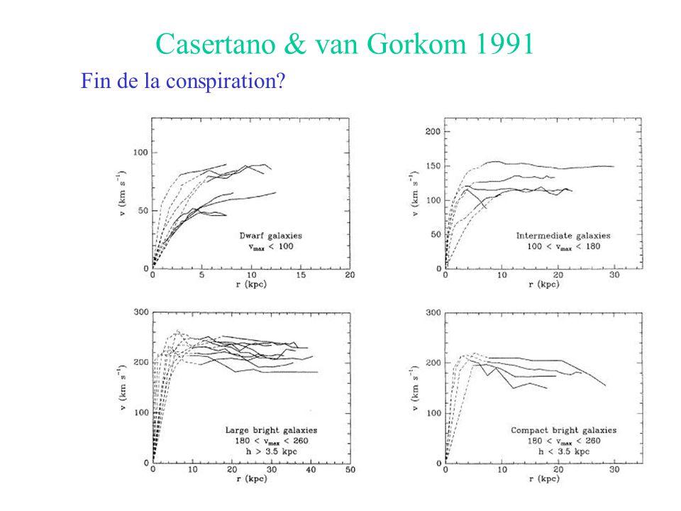 Casertano & van Gorkom 1991 Fin de la conspiration?