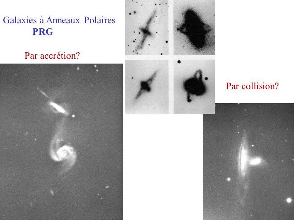 Galaxies à Anneaux Polaires PRG Par collision? Par accrétion?