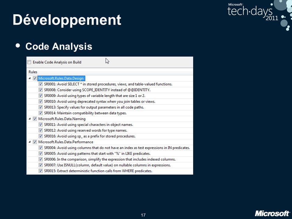 17 Développement • Code Analysis