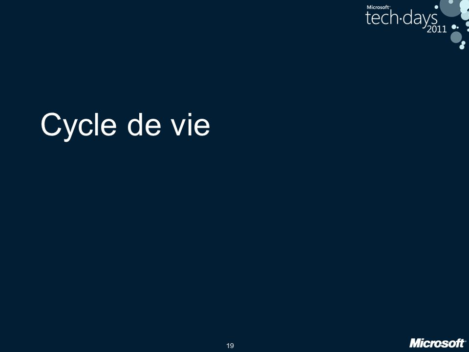 19 Cycle de vie