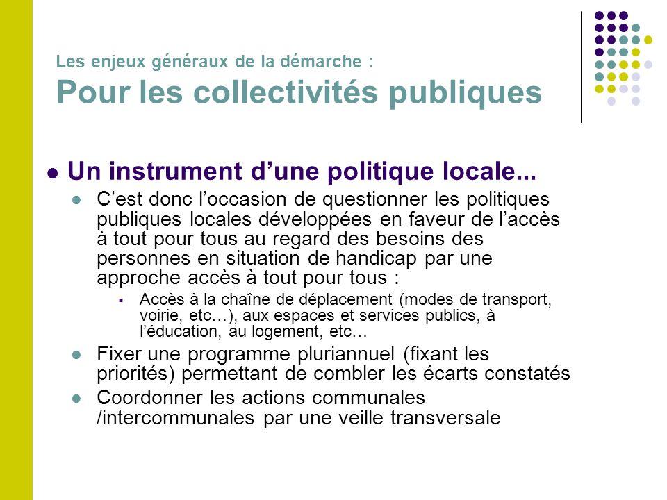  Un instrument d'une politique locale...  C'est donc l'occasion de questionner les politiques publiques locales développées en faveur de l'accès à t