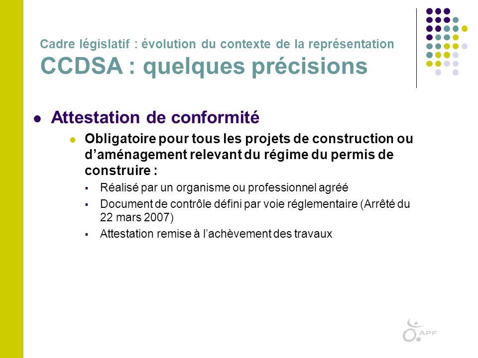  Attestation de conformité  Obligatoire pour tous les projets de construction ou d'aménagement relevant du régime du permis de construire :  Réalis
