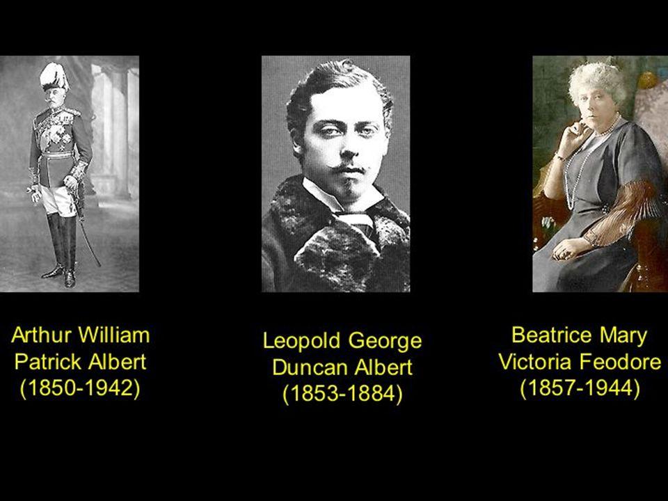 Alfred Ernest Albert (1844-1900) Helena Augusta Victoria (1846-1923) Louise Caroline Alberta (1848-1939) Alberta