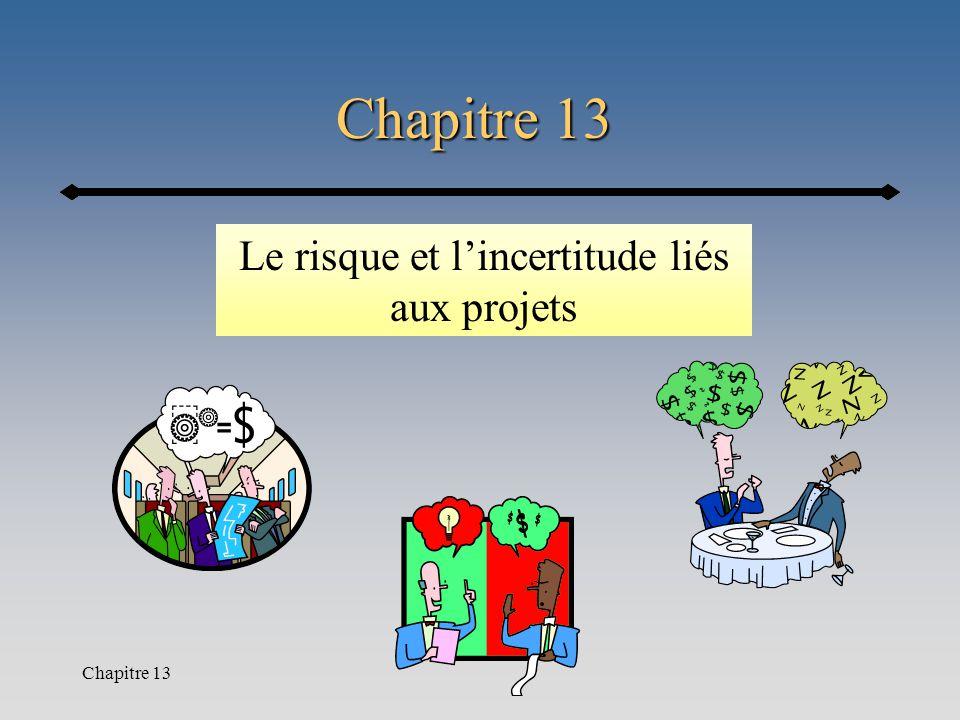 Chapitre 13 Le risque et l'incertitude liés aux projets
