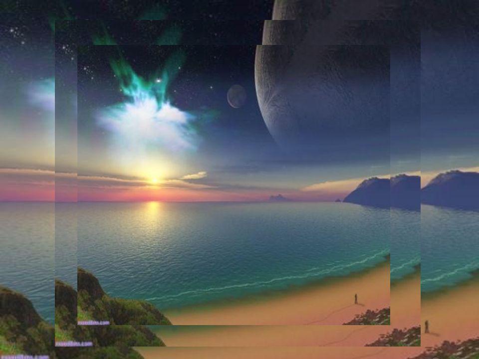 J'entends la mer murmurer ses bruits… Tu as changé ma Grande,tu as enfin compris… Le ciel te salue de ses belles couleurs… Bleu, rose, jaune, vert,une vrai aquarelle… Puis j'aperçois au loin là-bas,une étoile… Celle perdue par ta tristesse continuelle…