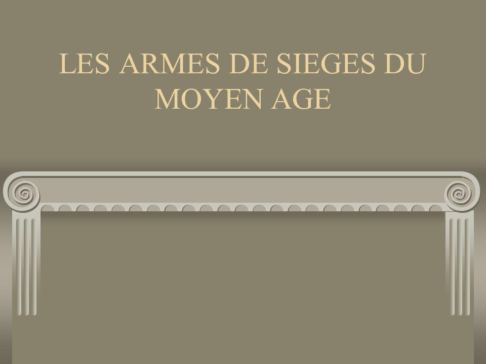 introduction Bonjour.Aujourd'hui je vais vous parler des armes de sièges utilisées au Moyen Âge.