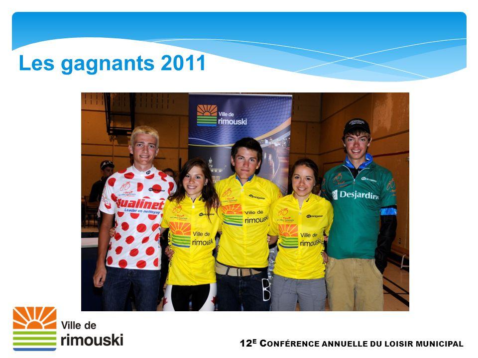 Les gagnants 2011 12 E C ONFÉRENCE ANNUELLE DU LOISIR MUNICIPAL