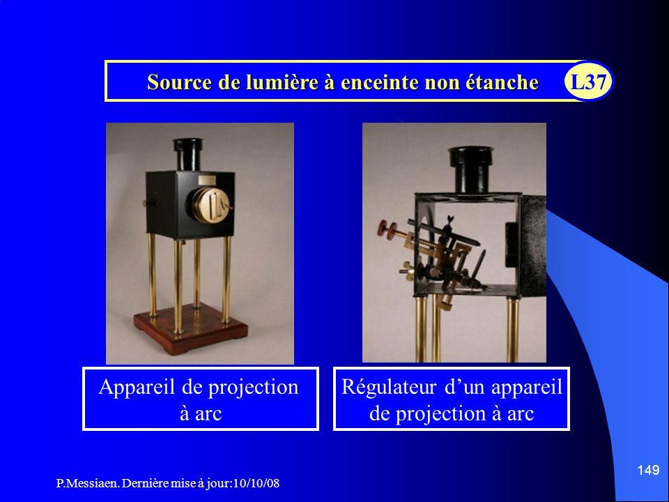 P.Messiaen. Dernière mise à jour:10/10/08 148 Source de lumière à enceinte non étanche Lanterne à charbon L37
