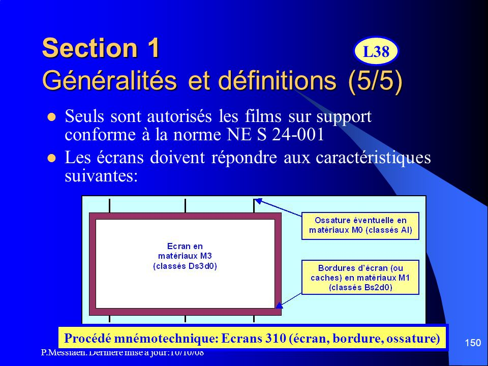 P.Messiaen. Dernière mise à jour:10/10/08 149 Source de lumière à enceinte non étanche Appareil de projection à arc Régulateur d'un appareil de projec