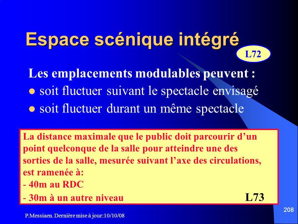 P.Messiaen. Dernière mise à jour:10/10/08 207 Espace scénique intégré à la salle