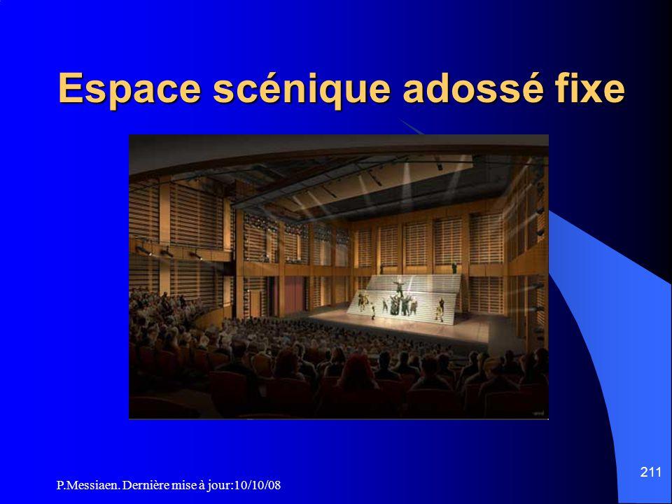 P.Messiaen. Dernière mise à jour:10/10/08 210 Espace scénique intégré Décors Les décors en matériaux M1 (classés Bs2d0) sont acceptés. Les matériaux e