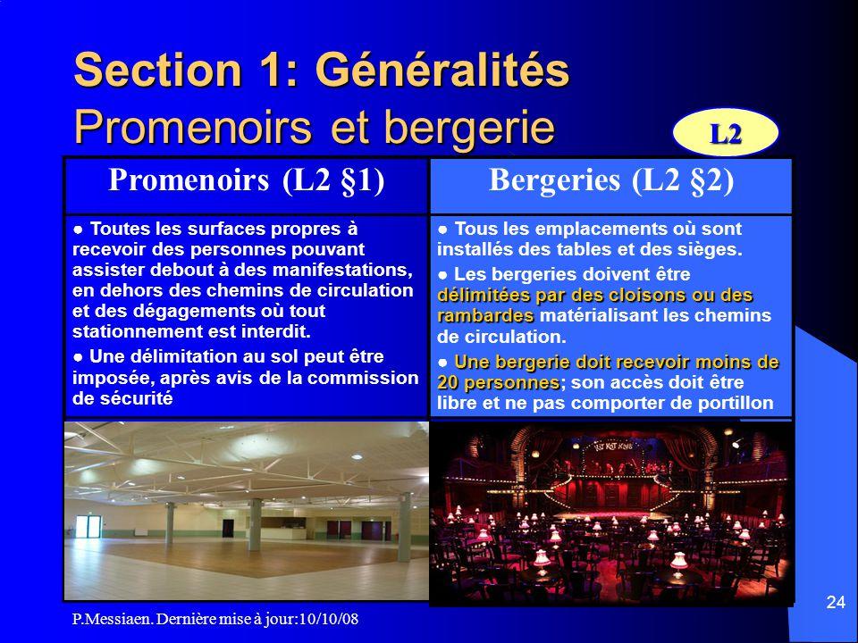 P.Messiaen. Dernière mise à jour:10/10/08 23 CO9 Isolement ERP / Tiers superposés (2/2)
