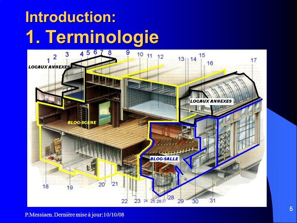 P.Messiaen. Dernière mise à jour:10/10/08 4 ERP type L Dispositions particulières du règlement de sécurité incendie Introduction, vocabulaire 1. Mesur