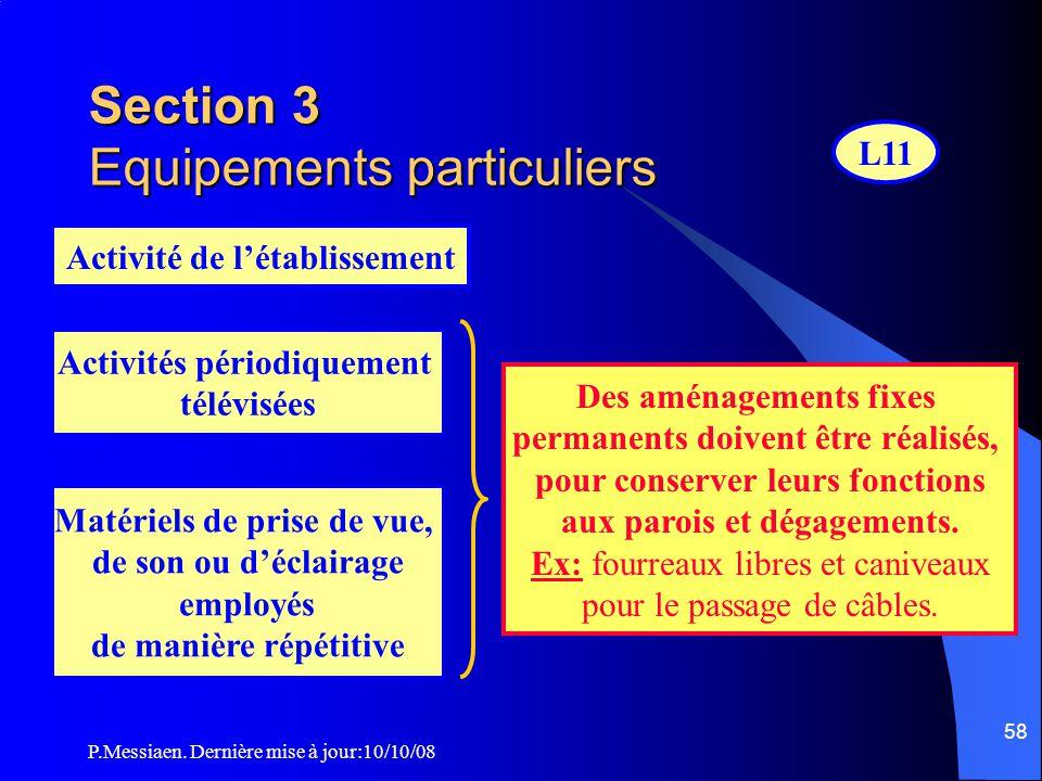 P.Messiaen. Dernière mise à jour:10/10/08 57 CO49 Distance maximale des escaliers Etages – Sous-sol EscaliersDistance max à parcourir en étage et en s