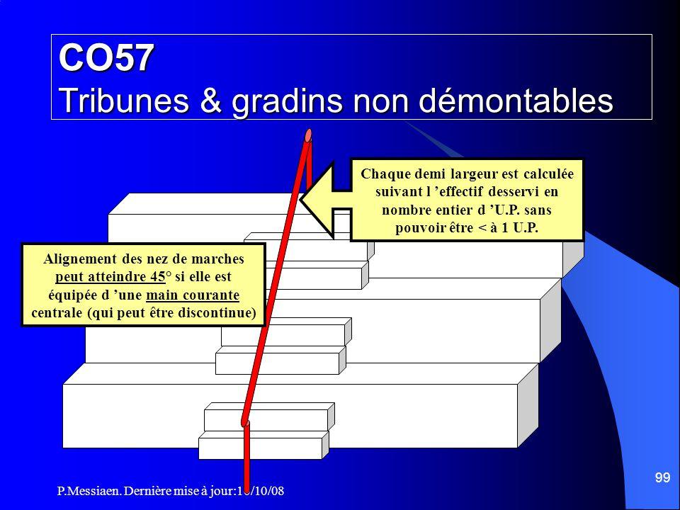 P.Messiaen. Dernière mise à jour:10/10/08 98 CO57 Tribunes & gradins non démontables