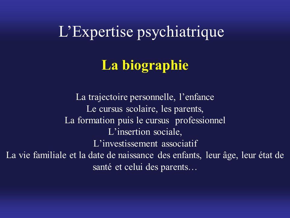 La biographie La trajectoire personnelle, l'enfance Le cursus scolaire, les parents, La formation puis le cursus professionnel L'insertion sociale, L'