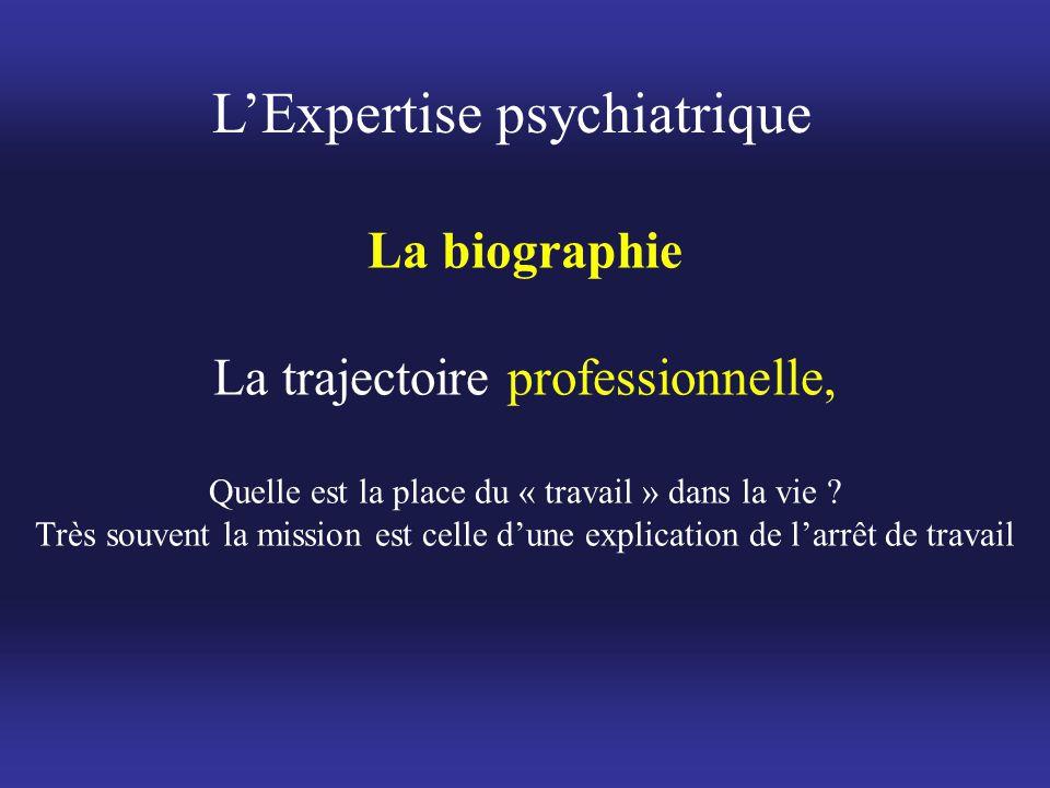 La biographie La trajectoire professionnelle, Quelle est la place du « travail » dans la vie ? Très souvent la mission est celle d'une explication de