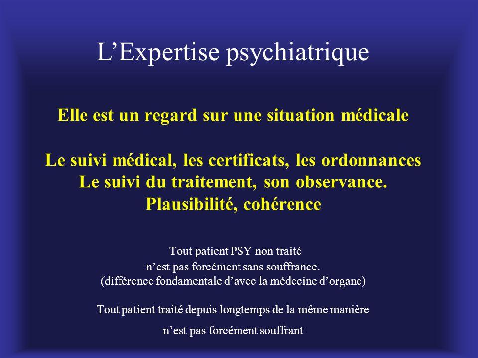 Elle est un regard sur une situation médicale Le suivi médical, les certificats, les ordonnances Le suivi du traitement, son observance. Plausibilité,