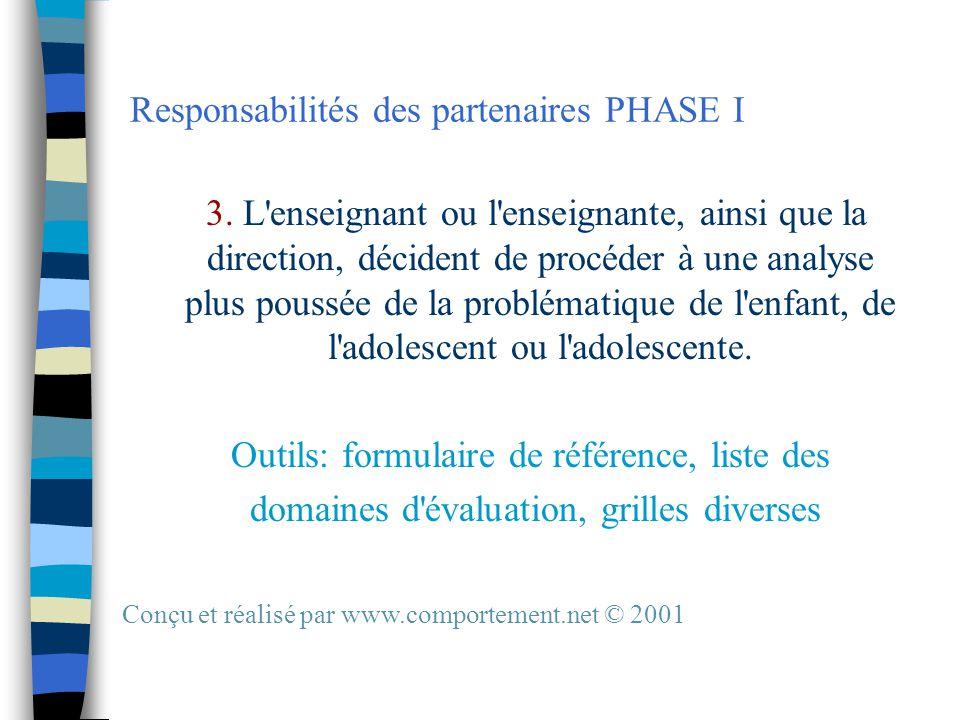 Responsabilités des partenaires PHASE I 3.