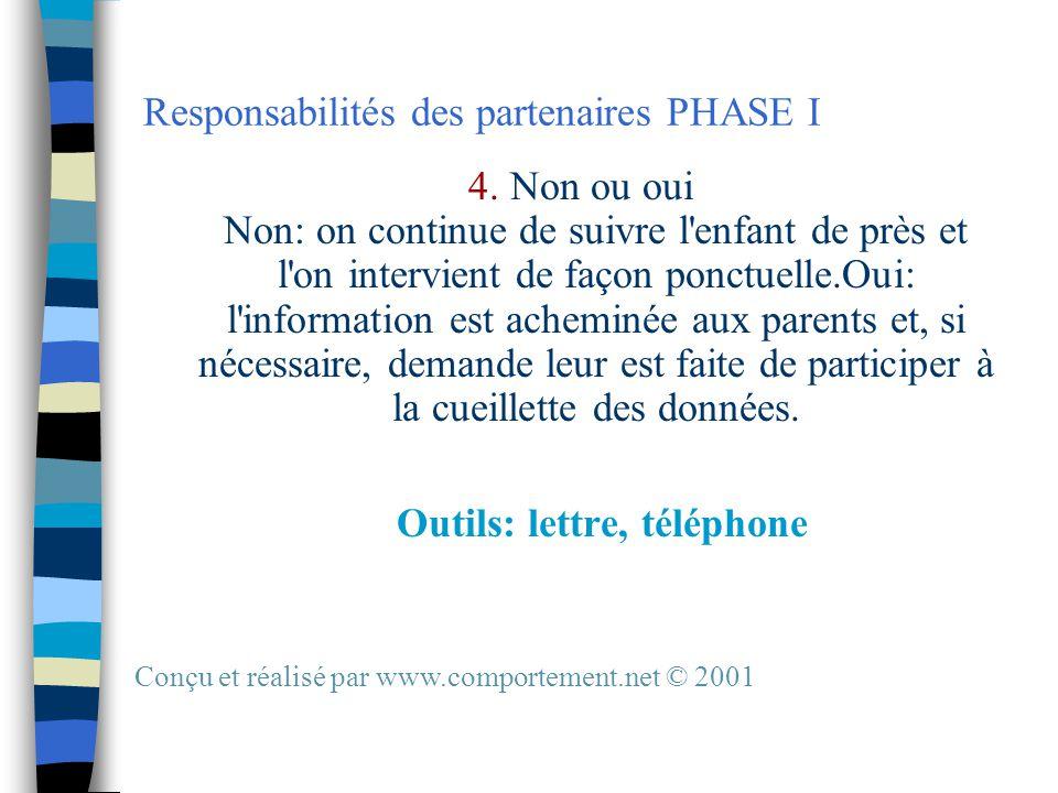 Responsabilités des partenaires PHASE I 4.